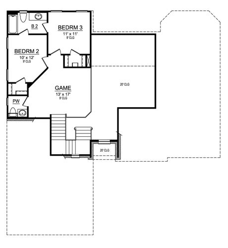 Second Floor image of Featured House Plan: BHG - 4538
