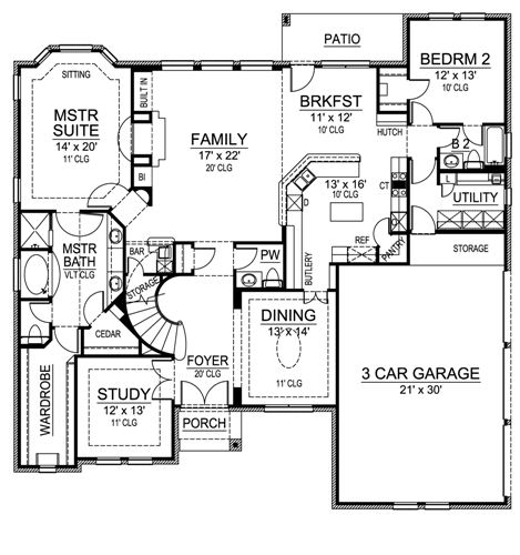 First Floor image of Featured House Plan: BHG - 4537