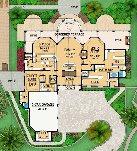 First Floor 2 image of Featured House Plan: BHG - 4841