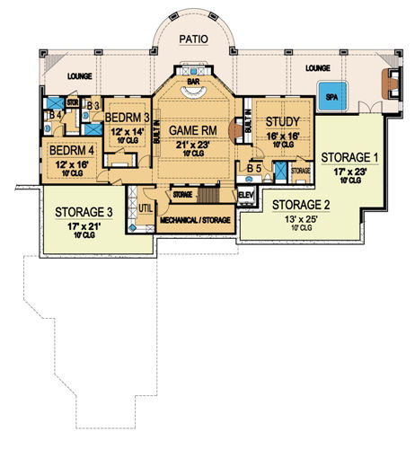 Lower Floor 2 image of Featured House Plan: BHG - 4841