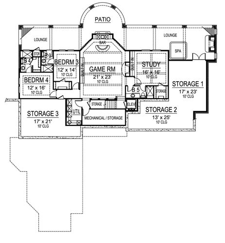 Lower Floor 1 image of Featured House Plan: BHG - 4841