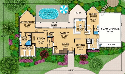First Floor 2 image of Featured House Plan: BHG - 4842