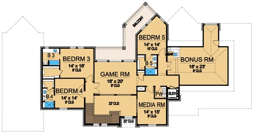 Second Floor 2 image of Featured House Plan: BHG - 4842