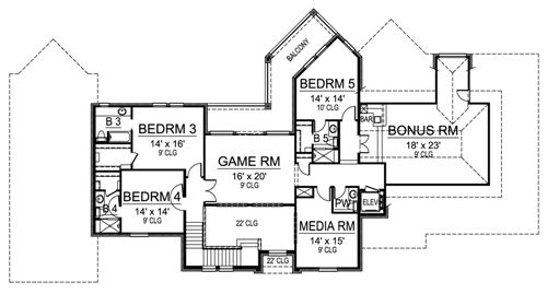 Second Floor image of Featured House Plan: BHG - 4842