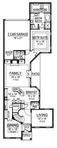 First Floor image of Featured House Plan: BHG - 4844