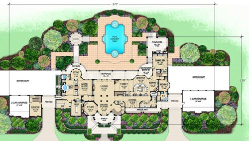 First Floor 2 image of Featured House Plan: BHG - 5181
