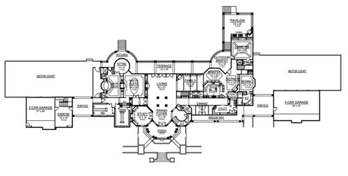 First Floor image of Featured House Plan: BHG - 5181