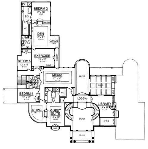 Second Floor image of Featured House Plan: BHG - 4853