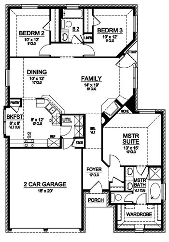 First Floor image of Featured House Plan: BHG - 4925