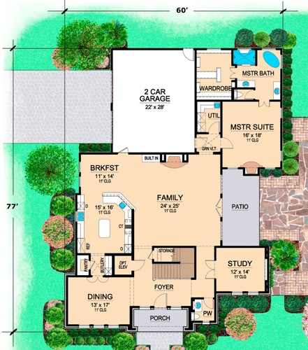 First Floor 2 image of Featured House Plan: BHG - 4856