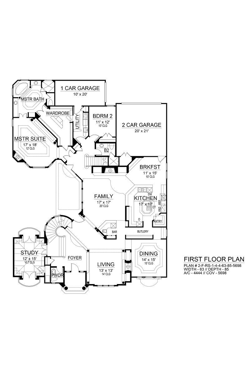 First Floor image of Featured House Plan: BHG - 9474