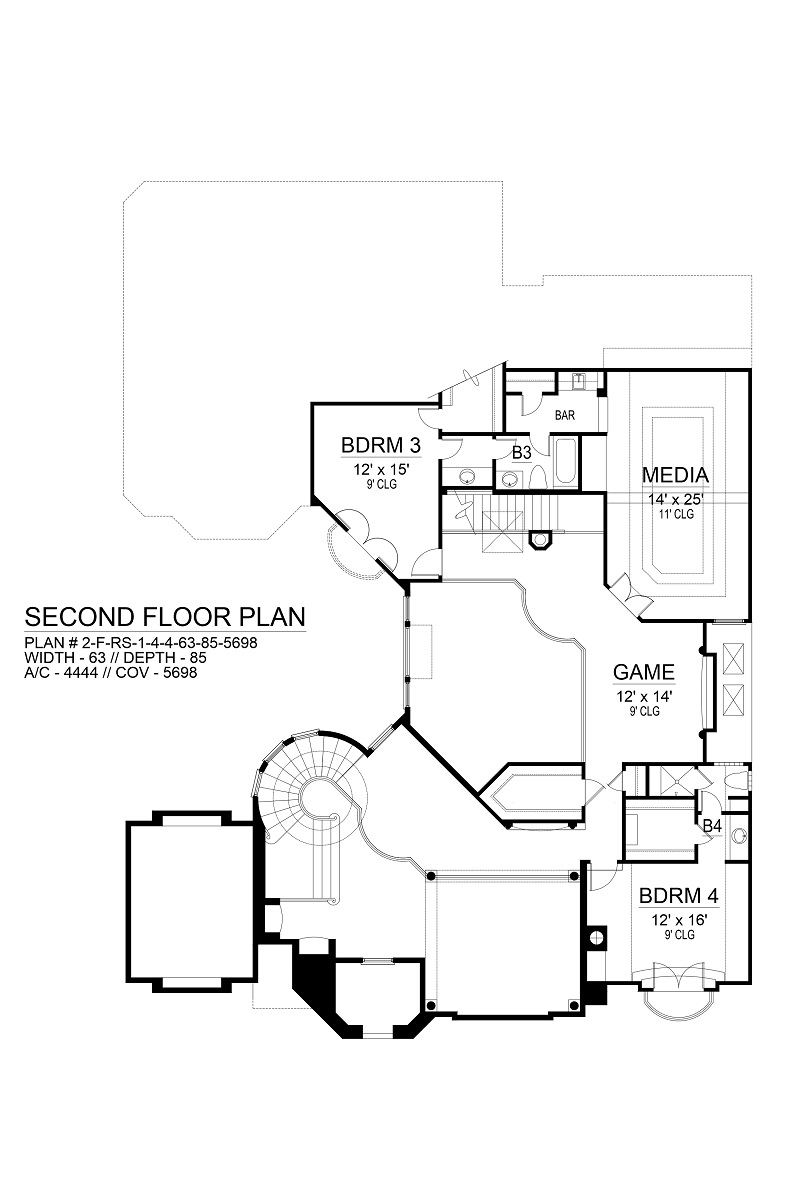 Second Floor image of Featured House Plan: BHG - 9474