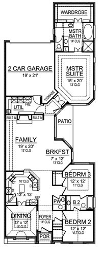 First Floor image of Featured House Plan: BHG - 4858