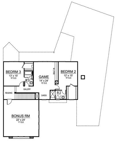 Second Floor image of Featured House Plan: BHG - 4859