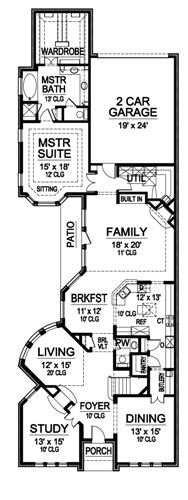 First Floor image of Featured House Plan: BHG - 4948