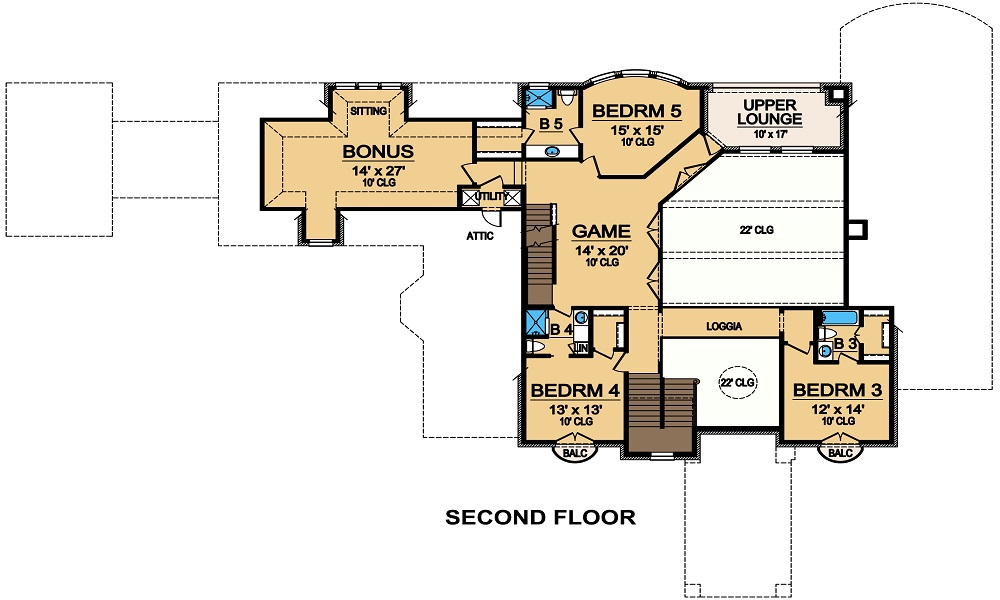 Second Floor image of Featured House Plan: BHG - 5471