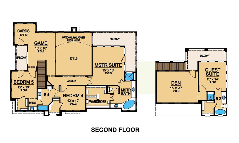 Second Floor image of Featured House Plan: BHG - 5472