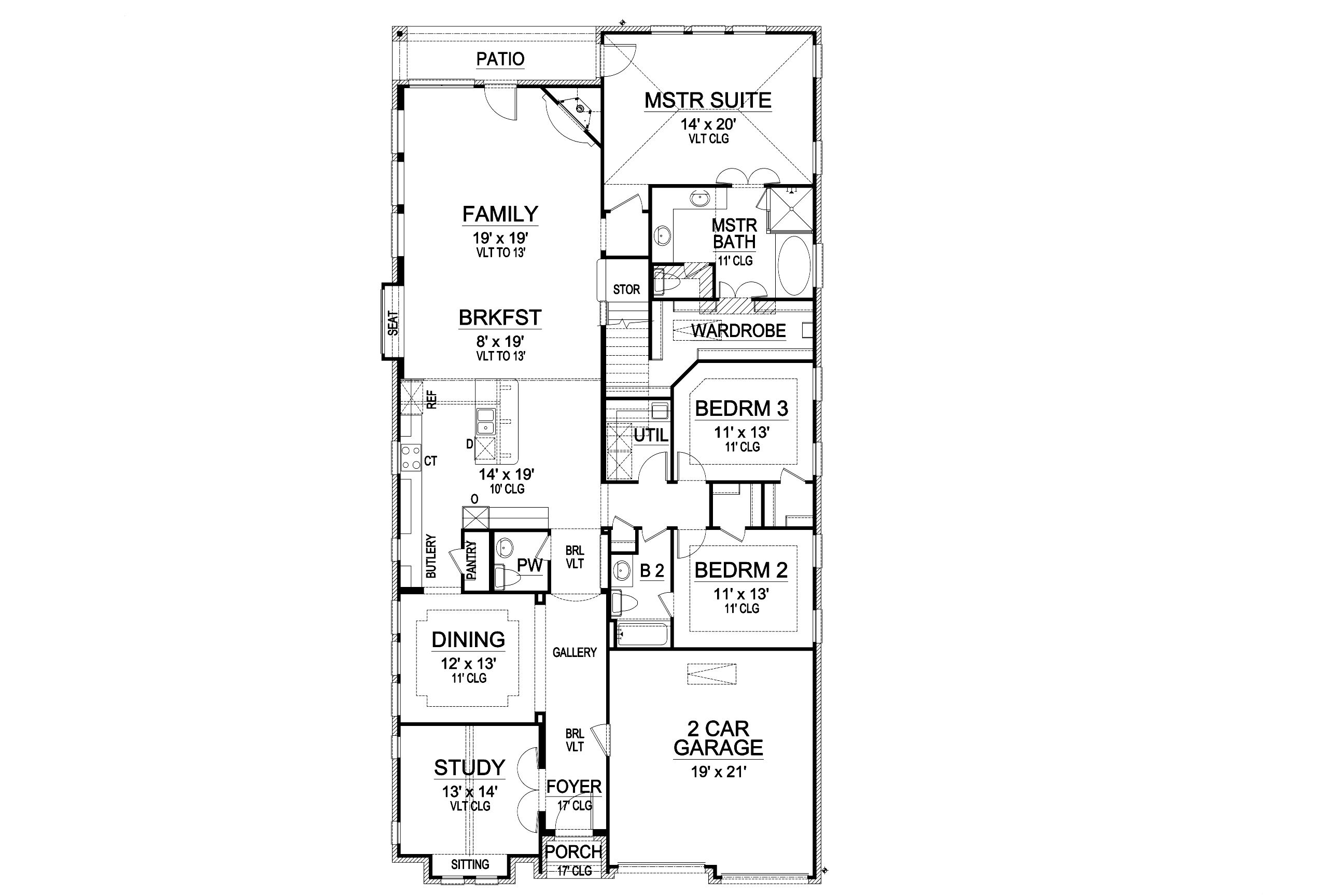 First Floor image of Featured House Plan: BHG - 5463