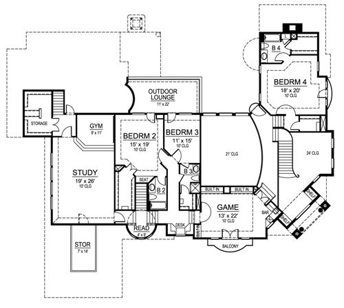 Second Floor image of Featured House Plan: BHG - 4520