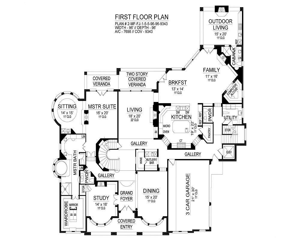 First Floor image of Featured House Plan: BHG - 9467