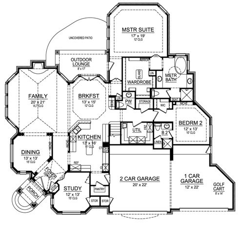 First Floor image of Featured House Plan: BHG - 4690