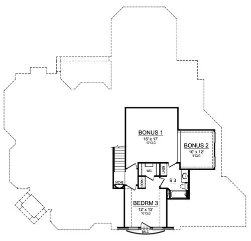 Second Floor image of Featured House Plan: BHG - 4690