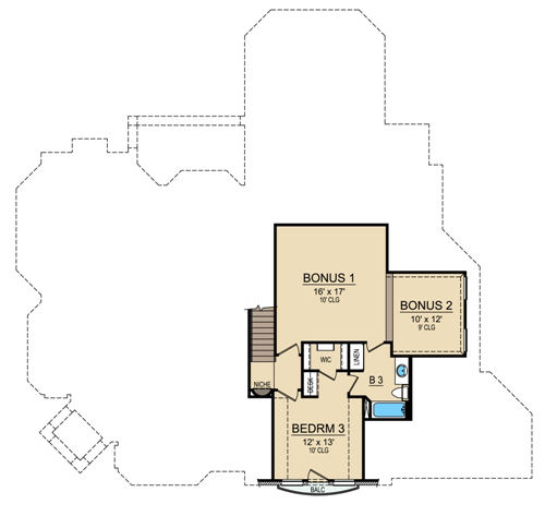 Second Floor 2 image of Featured House Plan: BHG - 4690