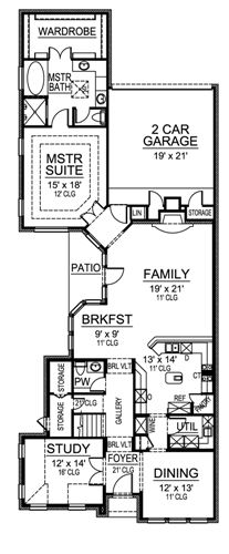 First Floor image of Featured House Plan: BHG - 4862