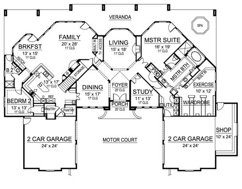 First Floor image of Featured House Plan: BHG - 4697