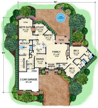 First Floor 2 image of Featured House Plan: BHG - 4500