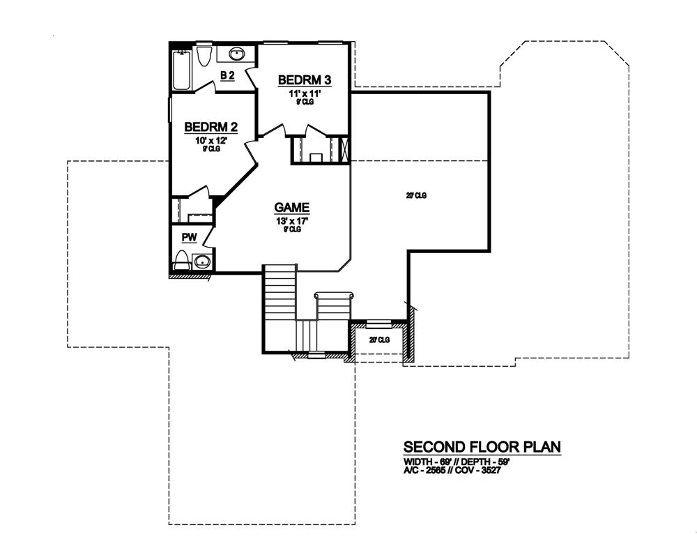 Second Floor image of Featured House Plan: BHG - 6780