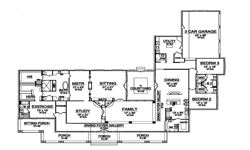 First Floor image of Featured House Plan: BHG - 5465