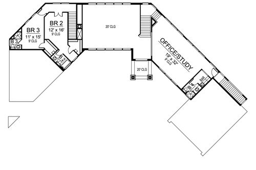 Second Floor image of Featured House Plan: BHG - 4864