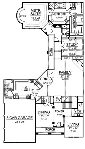 First Floor image of Featured House Plan: BHG - 4865