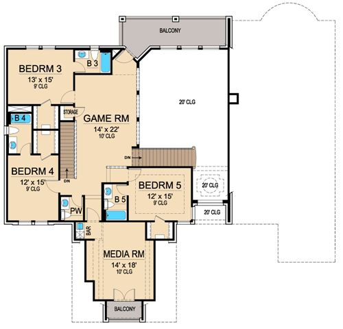 Second Floor 2 image of Featured House Plan: BHG - 4698