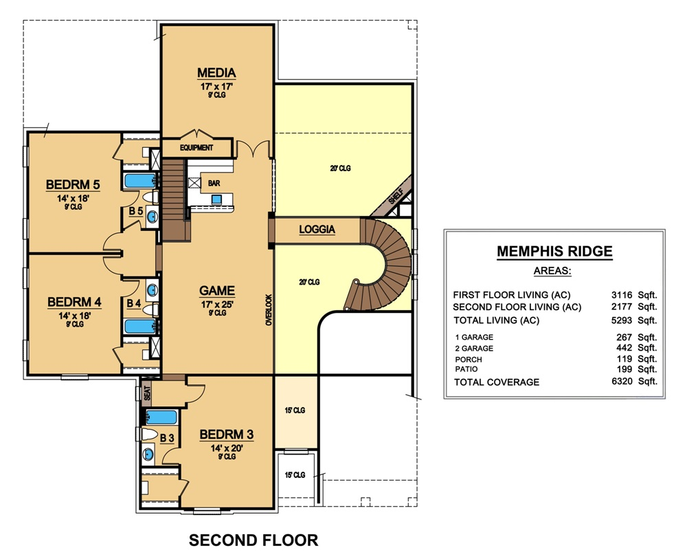 Second Floor image of Featured House Plan: BHG - 6785
