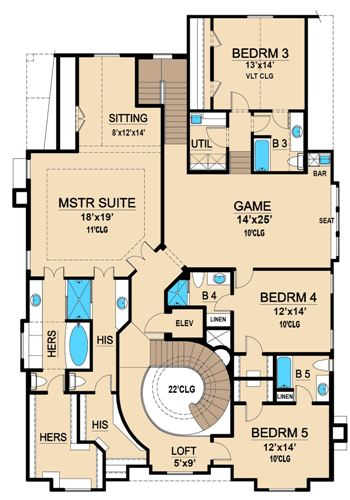 Second Floor 2 image of Featured House Plan: BHG - 4702