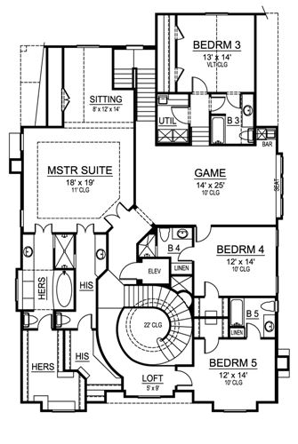 Second Floor image of Featured House Plan: BHG - 4702