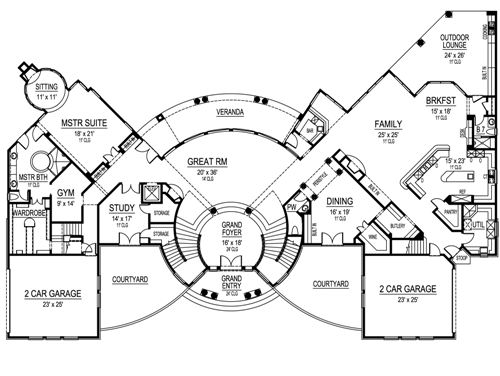 First Floor image of Featured House Plan: BHG - 4870