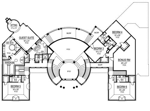 Second Floor image of Featured House Plan: BHG - 4870