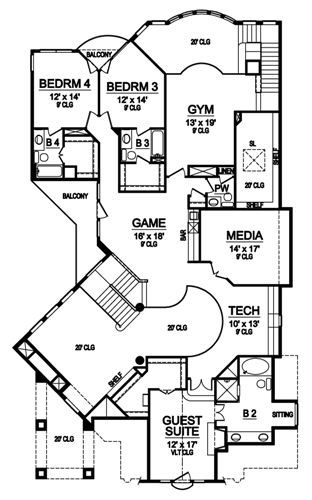 Second Floor image of Featured House Plan: BHG - 4879