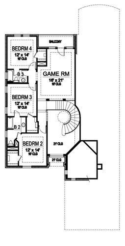 Second Floor image of Featured House Plan: BHG - 4880