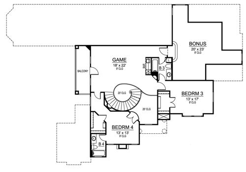 Second Floor image of Featured House Plan: BHG - 4883