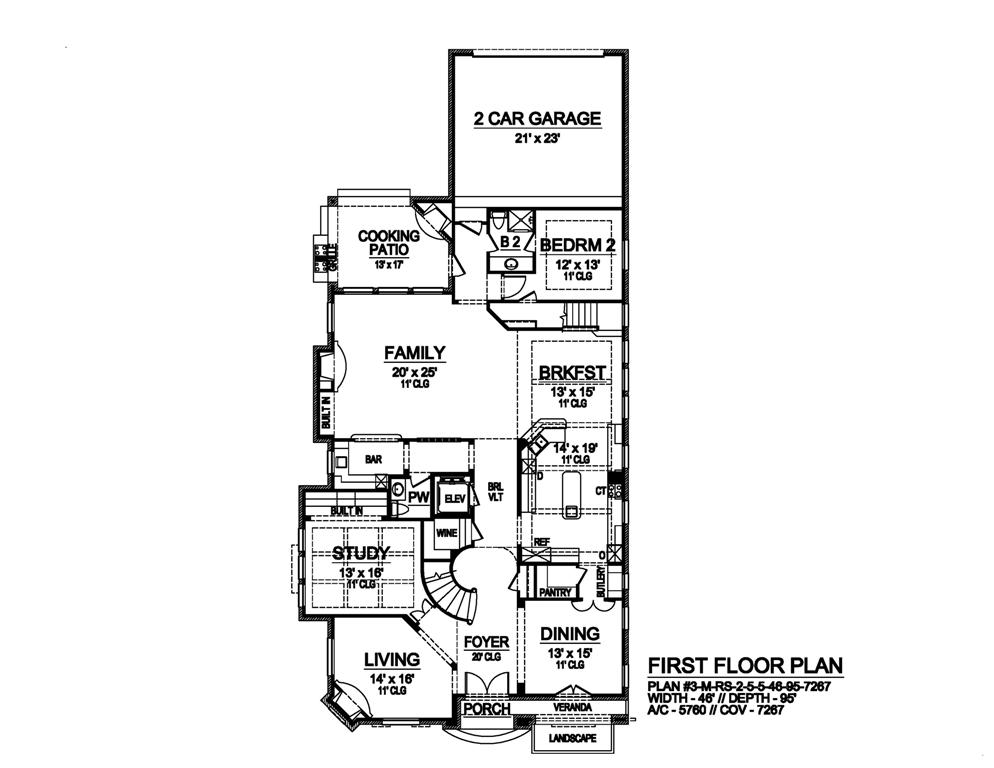 First Floor image of Featured House Plan: BHG - 6102