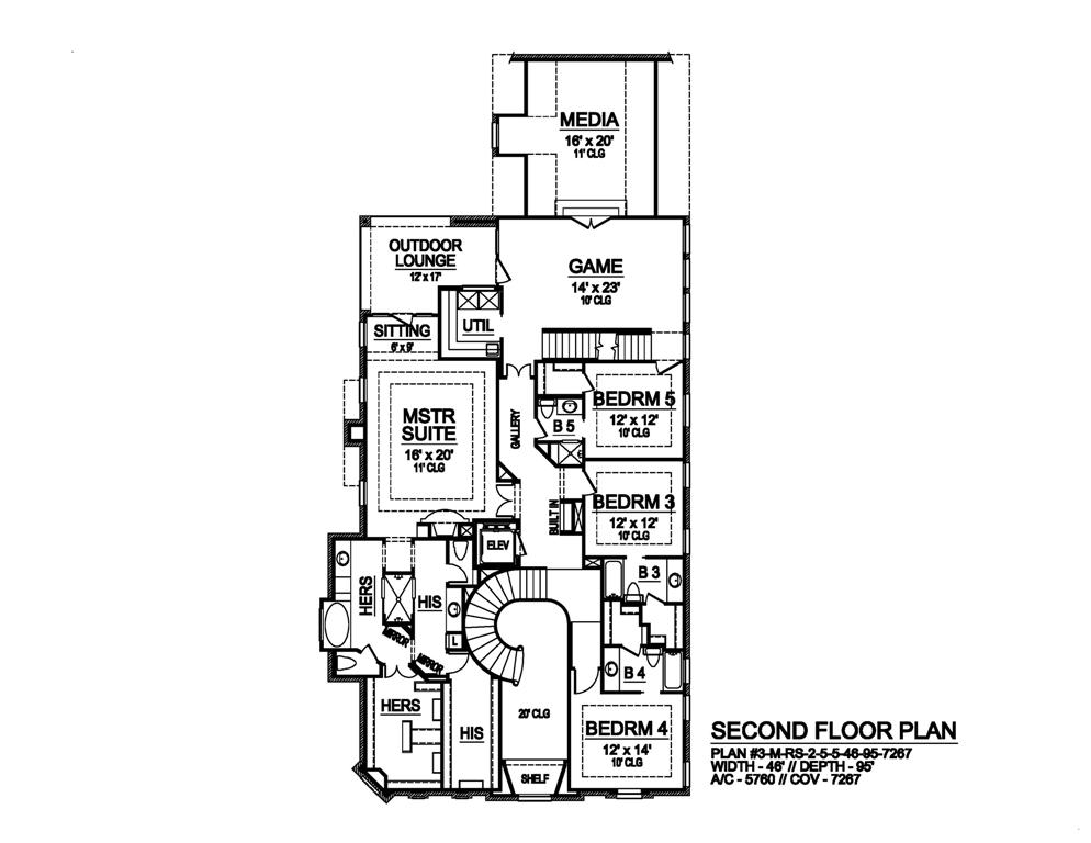 Second Floor image of Featured House Plan: BHG - 6102