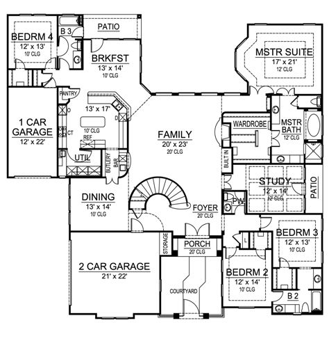 First Floor image of Featured House Plan: BHG - 4896