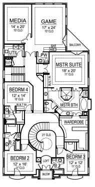 Second Floor image of Featured House Plan: BHG - 4898