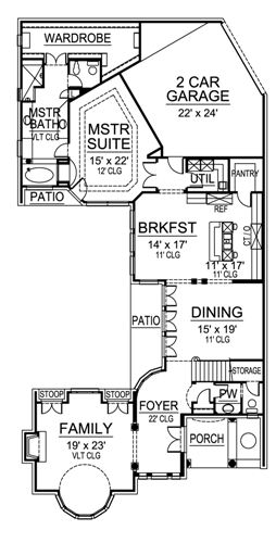 First Floor image of Featured House Plan: BHG - 4900