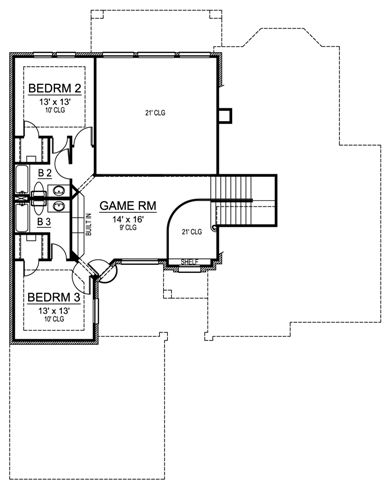 Second Floor image of Featured House Plan: BHG - 4901