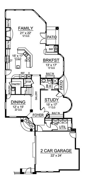 First Floor image of Featured House Plan: BHG - 4805